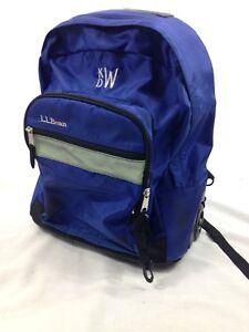 LL Bean Backpack Bag Blue Travel Wheels Pull Behind School Shoulder Carry Campus