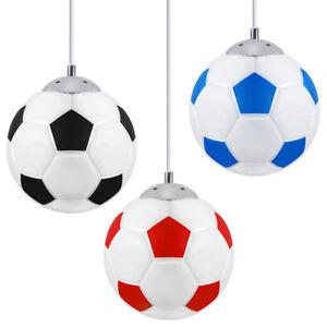 Modern FOOTBALL Ceiling Pendant Hanging Light Shade Club Games Kids Teens Light