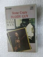 STONE CRAZY BUDDY GUY RARE orig CASSETTE TAPE INDIA CLAMSHELL 1994
