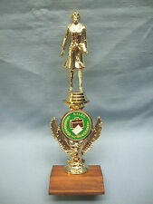 saleswoman trophy color riser solid wood base