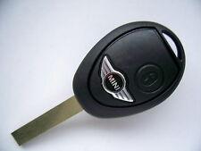 BMW MINI COOPER ONE S 2 BUTTON REMOTE KEY FOB CASE & BLADE + LOGO