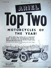 1960 ARIEL 250cc Twin 'Arrow' & 'Leader' Motor Cycles ADVERT - Vintage Print AD