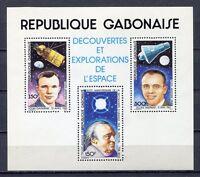 36998) Gabon 1981 MNH Spacecraft And Astronauts S/S