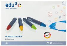 Edu³ Ölpastellkreiden - 30 Öl Pastell Kreiden sortiert in 24 Farben
