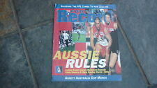 OLD AFL FOOTBALL RECORD, 1998 SYDNEY SWANS v MELBOURNE ANSETT CUP NEW ZEALAND