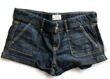 Aeropostale shorts juniors 11/12 dark wash denim jean MSRP $42.50 rolled