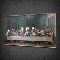 JESUS CHRIST LEONARDO DA VINCI LAST SUPPER CANVAS PRINT PICTURE WALL ART