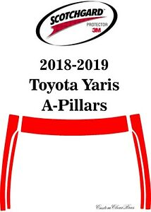 3M Scotchgard Paint Protection Film Clear Bra Pre-Cut 2018 2019 Toyota Yaris