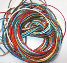 10 Bänder, je 1 Meter -  2 mm in verschiedene Farben.  Lederband, Lederschnur