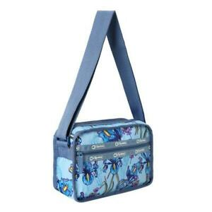 LeSportsac ReCycled Collection Re-Cube Crossbody Bag in Eco Iris Garden NWT