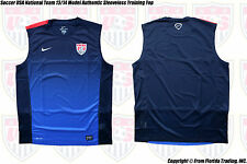 Soccer USA National Team 2013 Model NIKE Authentic Sleeveless Training Top(XL)Nv