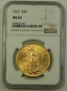 1927 US St. Gaudens Double Eagle $20 Gold Coin NGC MS-62 (Better)