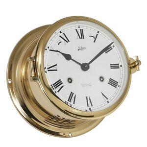 Schatz Uhren Bootsport Maritimes Nautika Glasenuhr mechanisch Messing 180mm