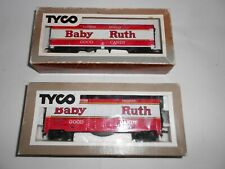 Tyco Baby Ruth Box cars x 2. Excellent condition. HO Scale. Boxed