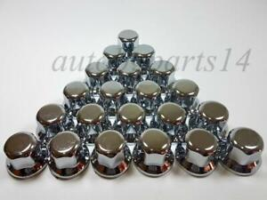 60x 32mm LUX WHEEL NUT COVER PLASTIC CHROME CAPS fit Truck VOLVO MERCEDES SCANIA