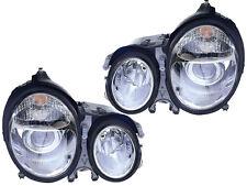 Mercedes Benz E Class 00 01 02 Projector Chrome Head Light Pair 210 820 38 37 61