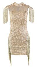 Glitter Mesh Tassel Club Party Mini Dress Size  M (UK10)