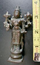 Antique Miniature Hindu Icon 'Vishnu',  bronze,  18th c.,  Rare