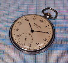 1960s Molnija 3602 18 Jewels Pocket Watch Ussr Soviet Era