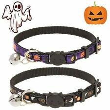 New listing Halloween Cat Collar Breakaway with Bell - 2 Pack Adjustable Soft Cute Pet