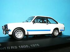 Ford Escort RS1800 White with Black trim a 1:43RD Scale Whitebox Collectors