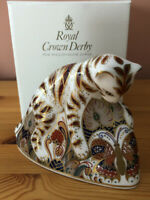 Royal Crown Derby Bennett's of Derby Bengal Tiger Cub Paperweight. Very Rare