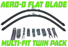 "Pair Aero-D Flat Front Windscreen Wiper Blades Set 26"" 650mm Multi Fit Replaceme"