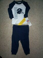 Seattle Seahawks nfl Pajama's Pajamas INFANT BABY NEWBORN Jersey 12M M 12 Months