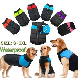 Waterproof Dog Jacket Coat Pet Winter Warm Clothes for Small Medium Large Dogs
