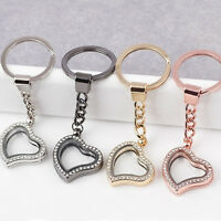 Gift Unique Beautiful Heart Shaped Key Charm Locket Key Alloy Living Floating