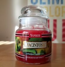 Yankee Candle MACINTOSH Black Band 3.7 Oz Baby Jar Housewarmer Retired Apple New