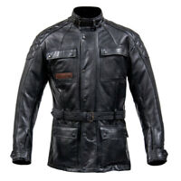 Spada Berliner Premium Leather Motorcycle Motorbike Waterproof Jacket - Black