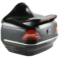 26L Motorcycle Tail box Helmet Top Case Motorbike Luggage Storage Trunk Carrier