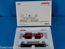 Marklin 48667 DB Heavy Duty Flat Car with Airport Fire truck München