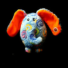 """Ethical Pets 7"""" Elephant Curly-Q's Plush Dog Toy squeaks"""