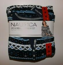 NAUTICA Navy Blue White Soft Lounge Sleepwear Pajamas Set XXL 2XL NWT Womens