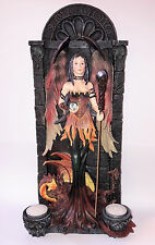 Gothic Fantasy Figur Gate of the Dragon Angel mit Teelichthalter