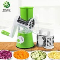 DUOLVQI Manual Vegetable Cutter Slicer Multifunctional Round Mandoline Slicer