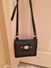 Brighton Black Leather Wallet Crossbody Organizer Shoulder Bag