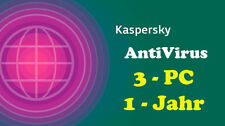 Kaspersky AntiVirus Vollversion 1 Jahr 3 PC