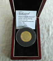 2008 GEORGE & THE DRAGON TDC SILVER PROOF PIEDFORT £5 CROWN WITH 6 RUBIES