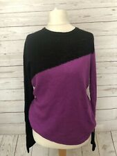 Fearne Cotton Size 12 Loose Knit Jumper Contrast Colour Casual Relaxed B17