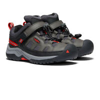 Keen Boys Targhee Low Hiking Shoes Green Grey Red Sports Outdoors Breathable
