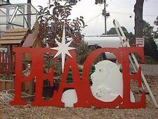 PEACE Sign Christmas Yard Art  Decoration