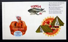 TONGA 1984 Self Adhesive Scout Whales Booklet Pane SG1282a NM421