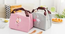Flamingo lunch bag lunch box, snack , picnic, back to school , office , gift