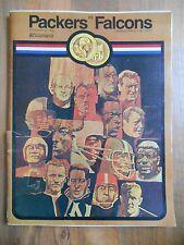 Old Vintage Oct 26 1969 Program Magazine Green Bay Packers Atlanta Falcons NFL