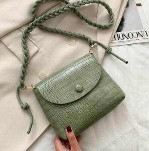 New women's green  one-shoulder satchel messenger bag