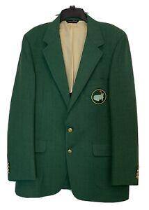 Masters Golf Jacket Blazer Green Replica Gold Button Augusta Size 44R Sport Coat
