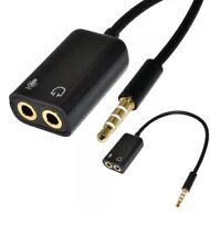 3.5mm Audio Mic Splitter Cable Adapter TRRS to 2 TRS For iPhone, iPad, Laptops